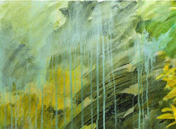Les verveines, acrylique sur toile, 92X65 cm