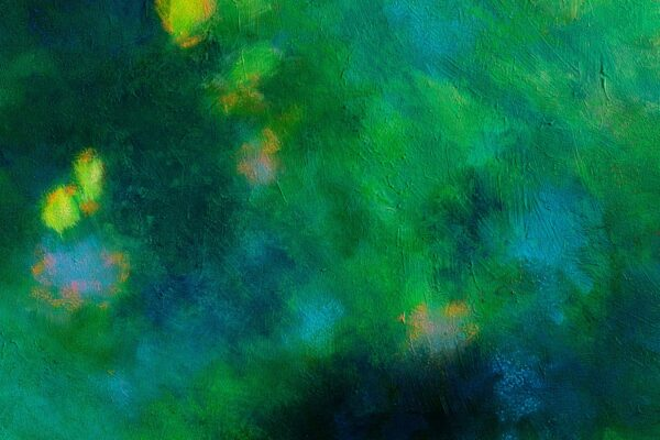 So green, acrylique et pastels à l'huile sur toile, 60X60 cm