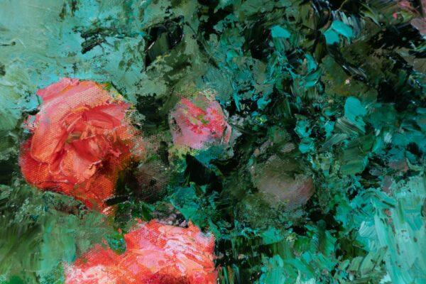 Tondo Pompadour, huile sur toile, 50 cm de diamètre