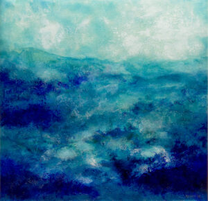 Blue abstract water landscape n°1 – Reserved for J.W.