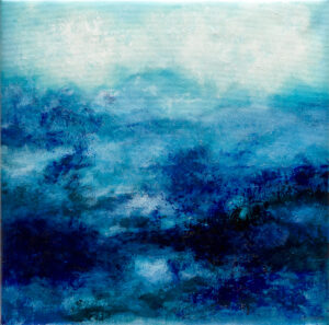 Blue abstract water landscape n°2