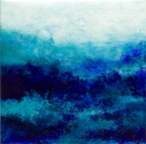 Blue abstract water landscape n°3