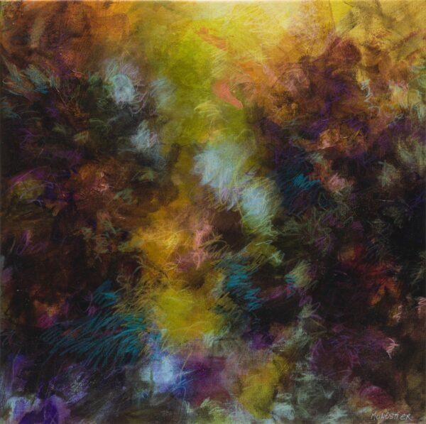 les nuits d'été nocturne acrylique et neocolor sur toile 60X60